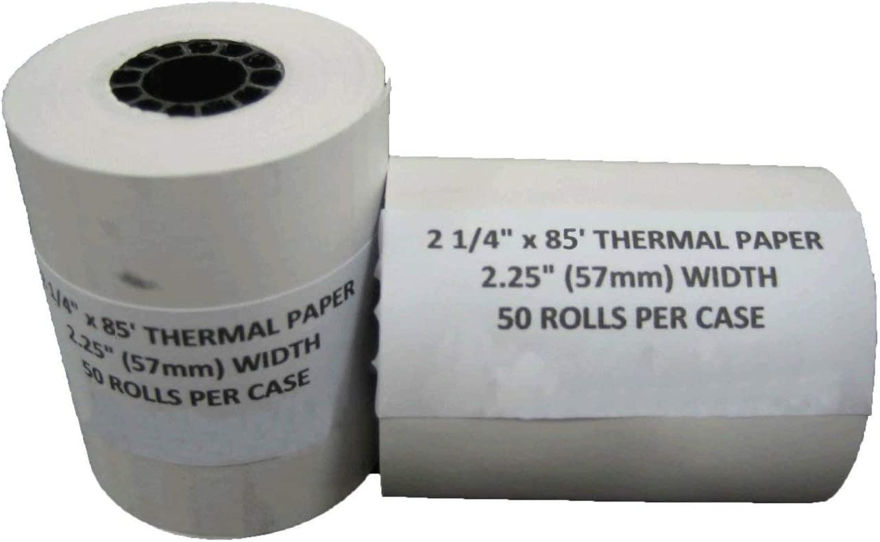 BPA Free MADE IN THE USA TEK POS Paper 2 1//4 x 85 Thermal Paper 50 Rolls