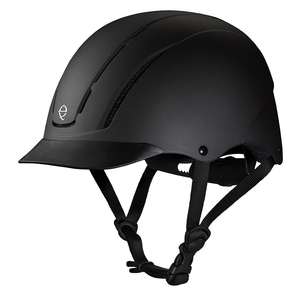 TROXEL DIALFIT LOW PROFILE SPIRIT HORSE RIDING HELMET BLACK DURATEC