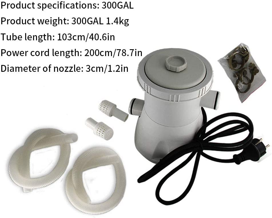 1PC Fliter Pool Pump Flowclear Filter Pump Swimming Pool Water Cleaning Tool for Swimming Pool Hot Tub White