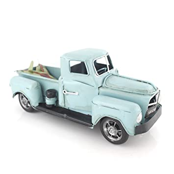 Vintage Looking Antique 8 Quot Handcrafted Light Blue Truck Vehicle Car Model