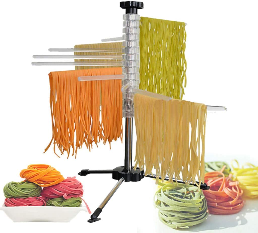 Kitchen Pasta Tool DSDecor Pasta Drying Rack Collapsible Noodle Dryer Rack for Spaghetti Fettuccine Lasagne