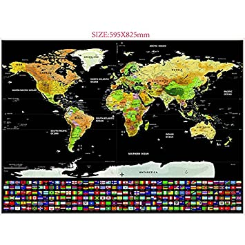 Kuulee scratch off world map personalized travel tracker map rub kuulee scratch off world map personalized travel tracker map rub off coin scratchable wall poster gumiabroncs Choice Image