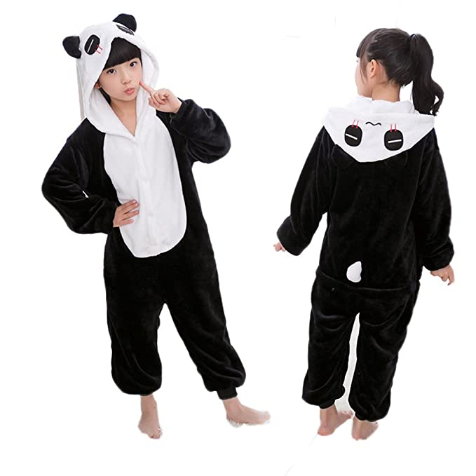 Yamer Children One Piece Panda Onesie Plus Size Anime Pajamas Kids Fleece  Onesie f866a14b87b4
