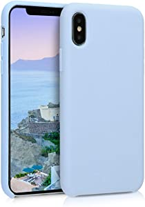 kwmobile TPU Silicone Case Compatible with Apple iPhone X - Soft Flexible Rubber Protective Cover - Light Blue Matte
