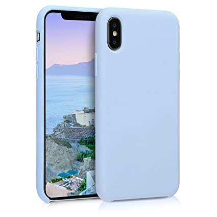 brand new 12e12 929be kwmobile TPU Silicone Case for Apple iPhone X - Soft Flexible Rubber  Protective Cover - Light Blue Matte