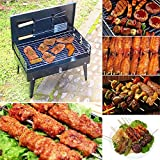 Dishan Charcoal Burn Oven Portable Folding Barbecue Grill Box Barbecue Grill For Outdoor Household BBQ Grills Thickening