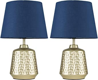 Gold and Navy Touch Lamp in 2020 | Blue