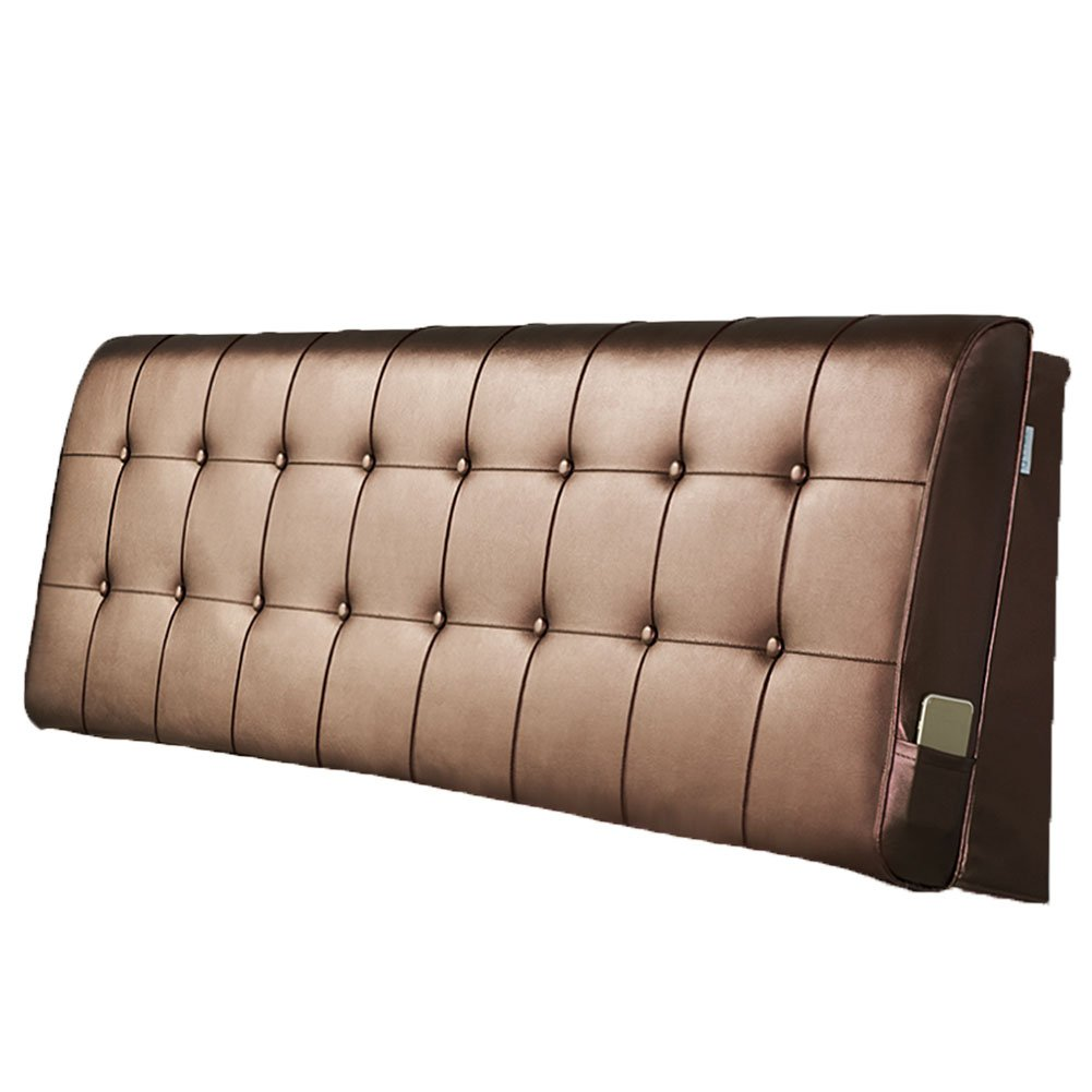 LIANGLIANG クッションベッドの背もたれ ダブルサイズベッドルームあり、5サイズ13色 (色 : チョコレート色, サイズ さいず : Length 180cm) B07FQQXGFV Length 180cm|チョコレート色 チョコレート色 Length 180cm
