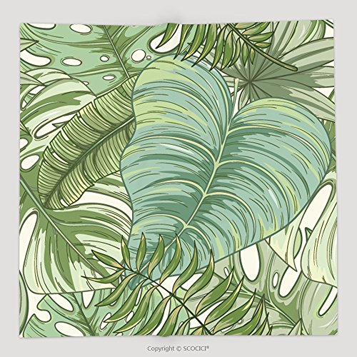 Custom Seamless Tropical Palm Leaves Pattern Summer Endless Hand Drawn Vector Background Of Areca Palm 638535994 Soft Fleece Throw Blanket