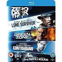 5 Movie Blu-ray Set Lone Survivor / Zero Dark Thirty / Safe House / Green Zone / Contraband