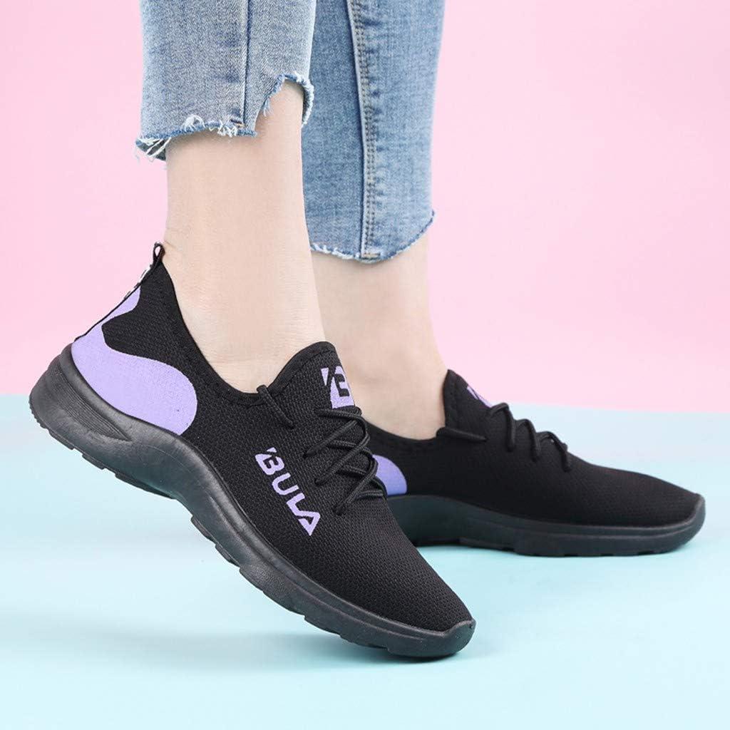 YWLINK Mujer Malla Casual para Antideslizante Deporte Caminar Zapatillas Mocasines Zapatos Suaves Al Aire Libre Ciclismo Ligero Y Transpirable Zapatillas De Correr