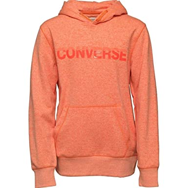 039e09164c4c Converse Kids Boy s Marled Pullover Hoodie (Big Kids) Wild Mango Marl Small
