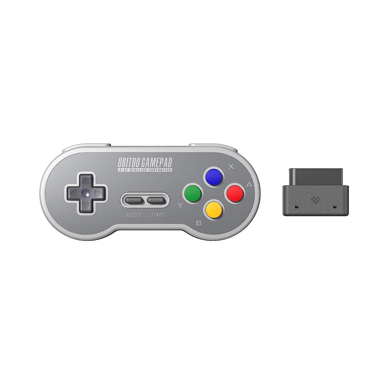 8Bitdo SN30 2.4G Wireless Gamepad for Original SNES/SFC (SF Edition) - Super NES