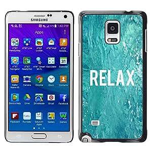 TopCaseStore / la caja del caucho duro de la cubierta de protección de la piel - Surfer Blue Water Ocean - Samsung Galaxy Note 4 SM-N910F SM-N910K SM-N910C SM-N910W8 SM-N910U SM-N910