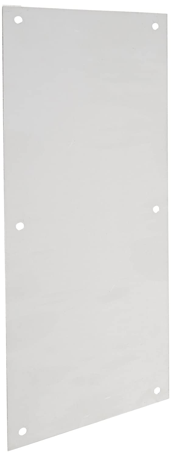Rockwood 70E.28 Aluminum Standard Push Plate, Four Beveled Edges, 16' Height x 6' Width x 0.050' Thick, Clear Anodized Finish 16 Height x 6 Width x 0.050 Thick Rockwood Manufacturing Company
