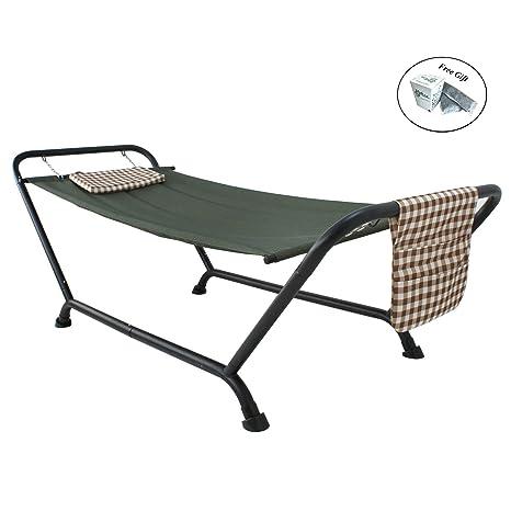Hamaca con soporte funda de cojín Patio porche salón cama al aire libre Patio, verde