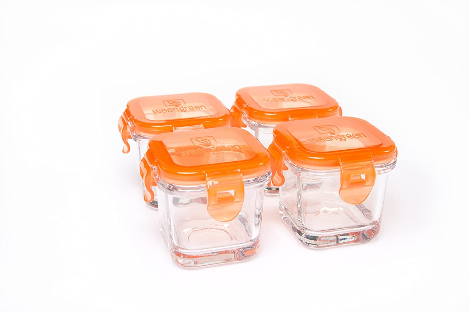 Amazon.com : Wean Green Glass Baby Food Containers (Set Of 4) (Multi Color)  : Baby Food Storage Containers : Baby