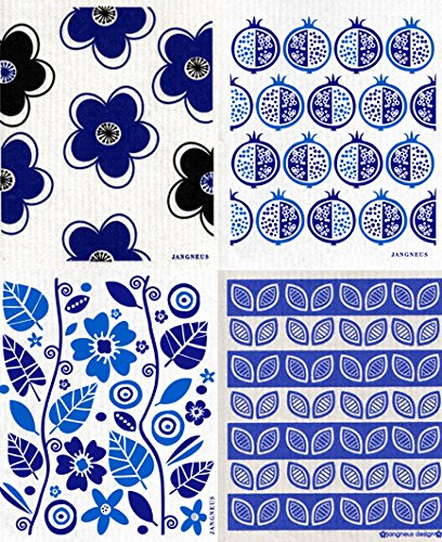 Swedish Dishcloth - Set of 4 Dark Blue (CD) (Furniture Swedish Design Outdoor)