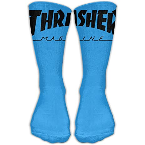 Thrasher Magazine Elevated Performance Crew Socks For Cycling Moisture Control Elastic Socks Protect The Wrist 11.8
