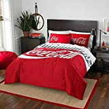 The Coca-Cola Company Bottles Bedding Comforter and 2 Shams Set by The Northwest Company, Twin/Full
