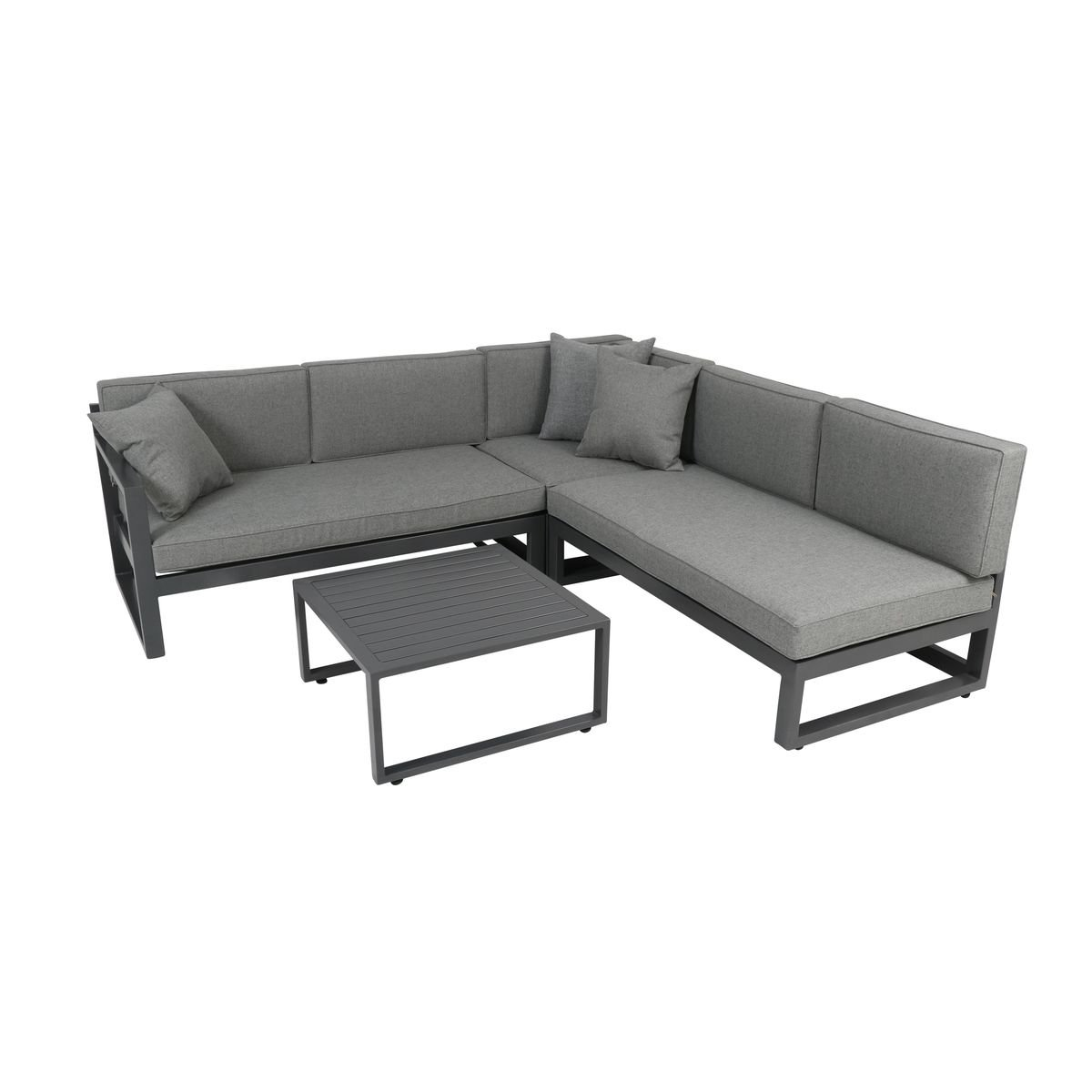 greemotion gartenm bel set alu costa rica gartenlounge aus aluminium mit auflagen in grau 3. Black Bedroom Furniture Sets. Home Design Ideas