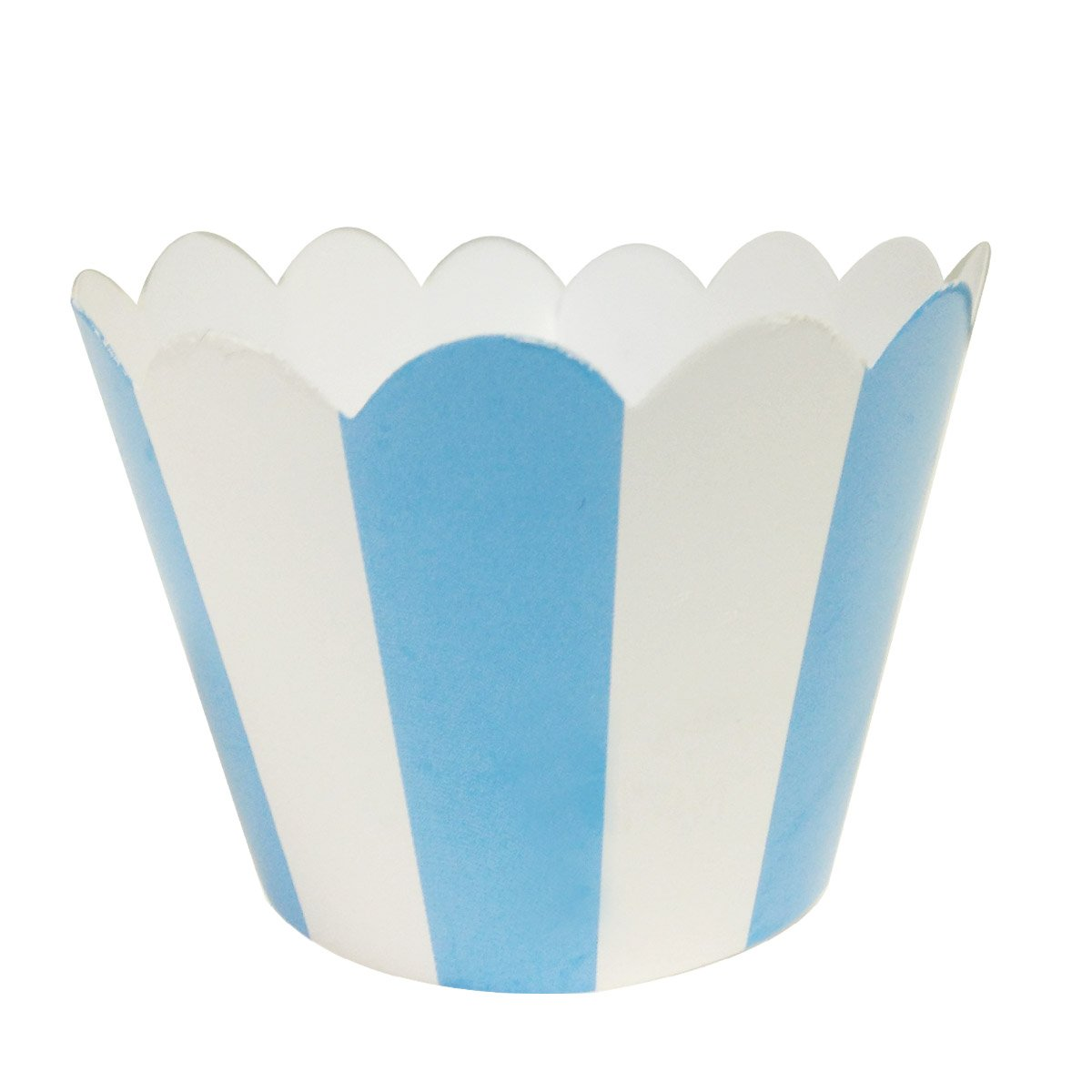 Blue Set of 20 AllyDrew Standard Size Striped Cupcake Wrappers