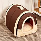 Cheap Velimax 2-in-1 Pet House Non-slip Windproof Bottom Cats Pet Tent Pet Cover [2-in-9 pet house Handbag Shape for Dogs & Cats Pet Tent Pet Cover with Removable Cushion Washable Waterproof Bottom]