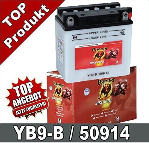 Banner Batterie de moto YB9-B CB9-B 9Ah 12 Volts 50914