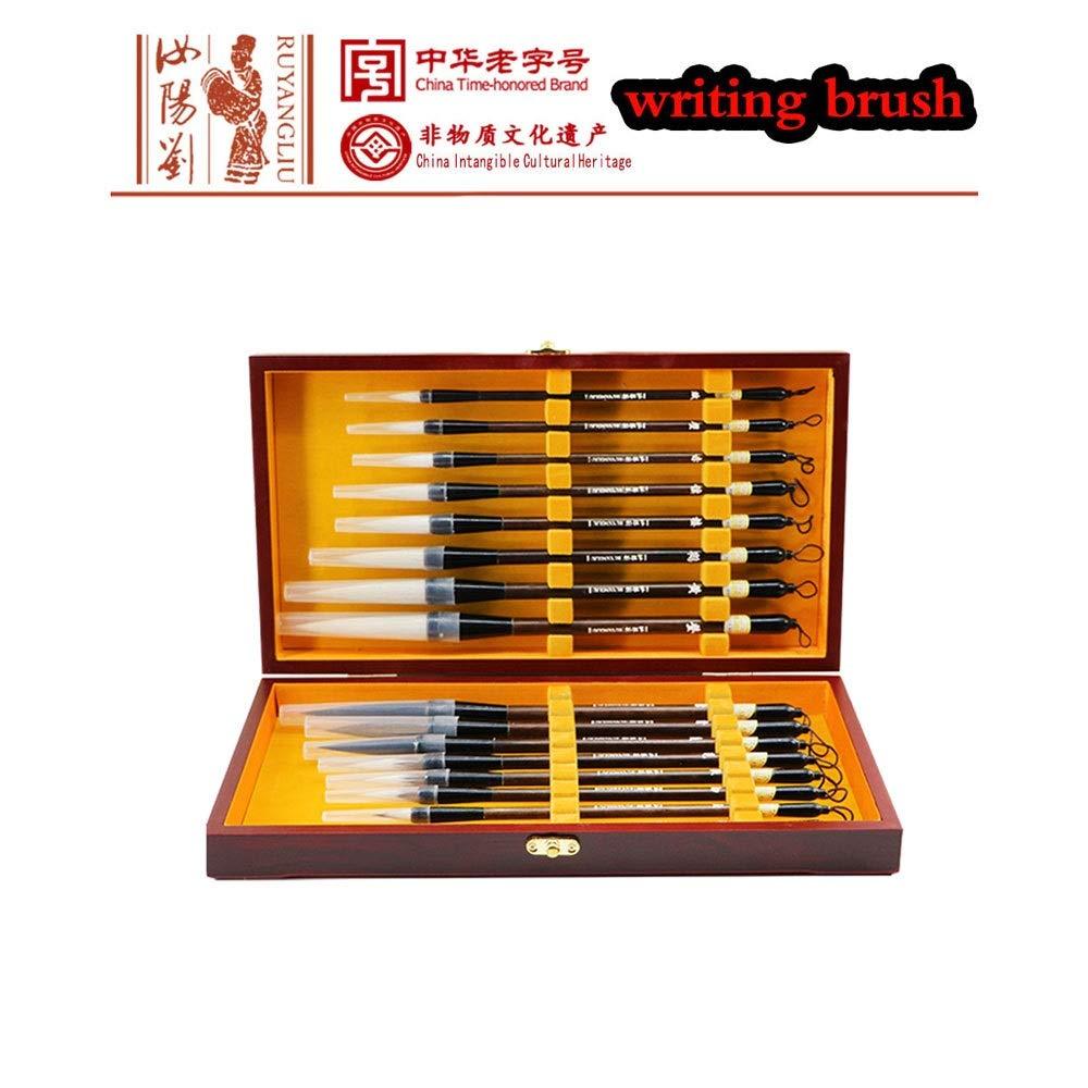 SSN RUYANGLIU Writing Brush 16pcs Chinese Calligraphy Painting Brush Writing for Beginner Level Wolf Wool Rabbit Hair Calligraphy Hook line Painting Brush by SSN