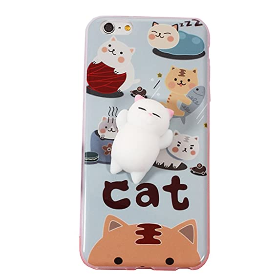 Wowdecor Squishy Phone Case for iPhone 7 3D Squishy Stress Relieve Cute Soft  Silicone Animal Phone 2172350073