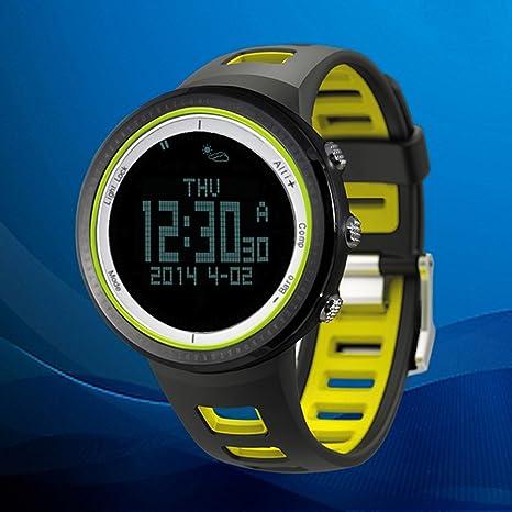 SUNROAD FR800NB 5ATM Reloj Deportivo al Aire Libre Podómetro Cronógrafo Altímetro Barómetro Termómetro Brújula Pantalla LCD