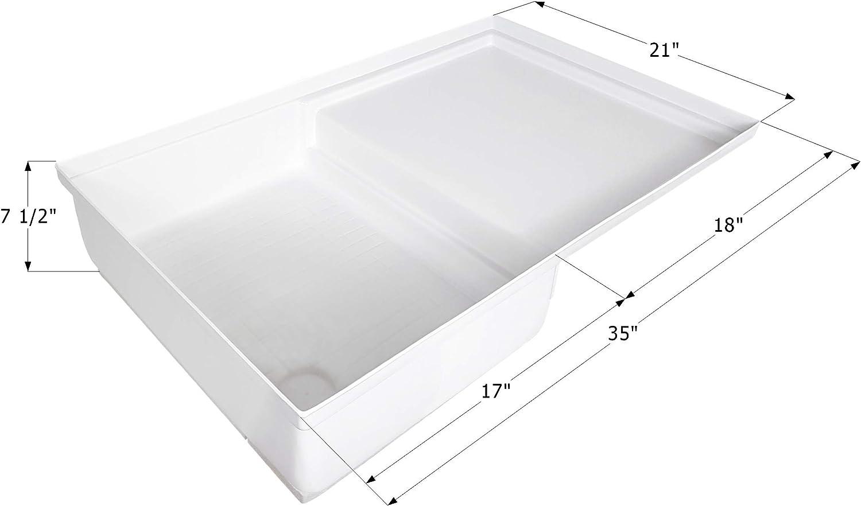 ICON 12893 Combo Shower Pan SP400 - Polar White