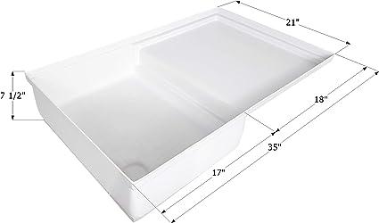 Amazon.com: ICON 12893 Combo Shower Pan SP400   Polar White