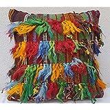 Hand made Shaggy Rug Pillow Cover Vintage Shag Carpet Throw Cushion 20'' X 20''