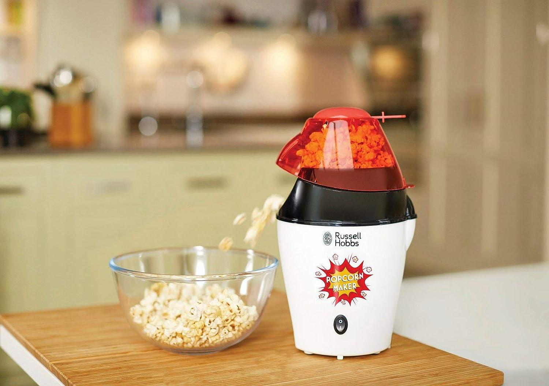 ohne Fett /& /Öl BPA-frei 1200W Popcornautomat Fiesta 24630-56 inkl Hei/ßluft Popcorn Maker f/ür Popcornmais Messl/öffel Russell Hobbs Popcornmaschine