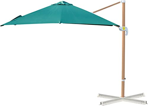 Outsunny 10ft x 10 ft Patio Offset Parasol Hanging Cantilever Umbrella