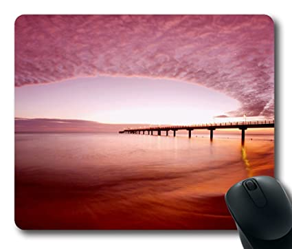 Spectacular Sunset Light Wallpaper Mouse Pad