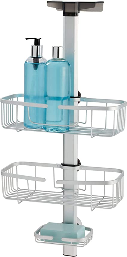 iDesign Metro Conteiner Doble Ajustable Mampara, Aluminio, Plata ...
