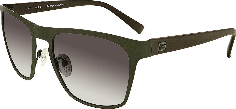 f15b890abc14 GUESS Eyewear Square Sunglasses (Army Green) at Amazon Men s Clothing store