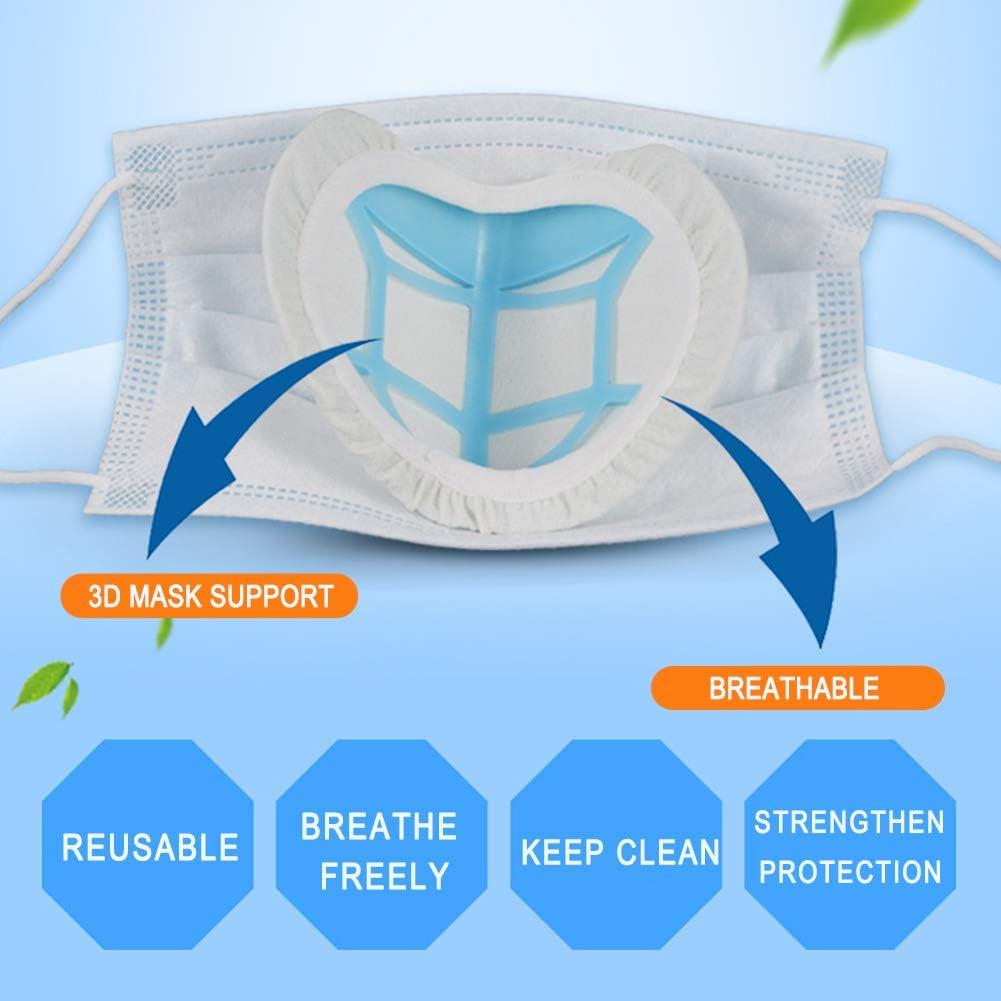 Pour am/éliorer lespace respiratoire pour Femme Homme AIEOE Supports de Protection int/érieurs en silicone pour le visage