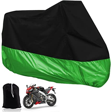 104 inch,Black Moto Cover Outdoor Waterproof,Motorcycle Cover for Motorbike Rain Sun UV Dustproof All Season All Weather Outdoor Protective Cover