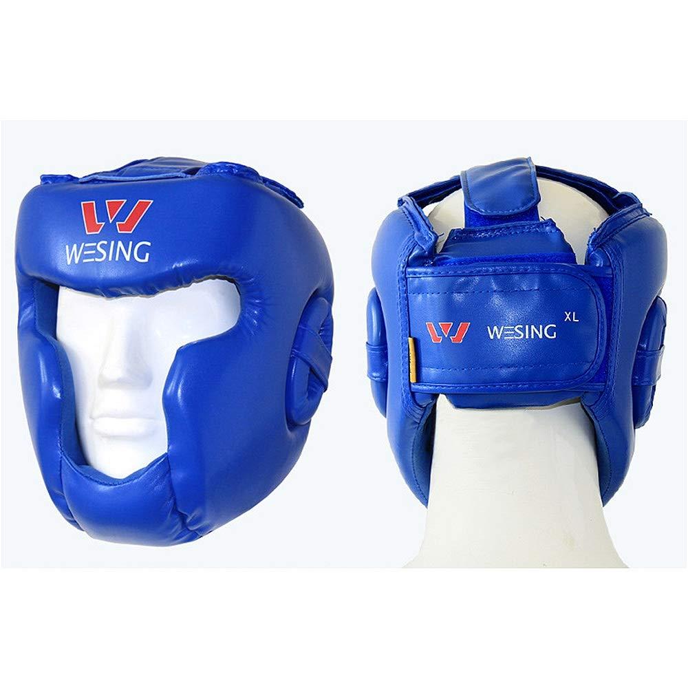 Casque de protection pour la boxe Type ferm/é complet Boxe MMA Kickboxing Head Gear Casque de boxe Head Guard Sparring Muay Thai Kick Brace Protection de la t/ête pour muay karat/é taekwondo