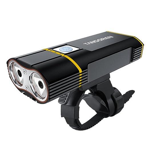 2 opinioni per Tansoren USB ricaricabile della luce con 2000lumen CREE XM-L2LED faro