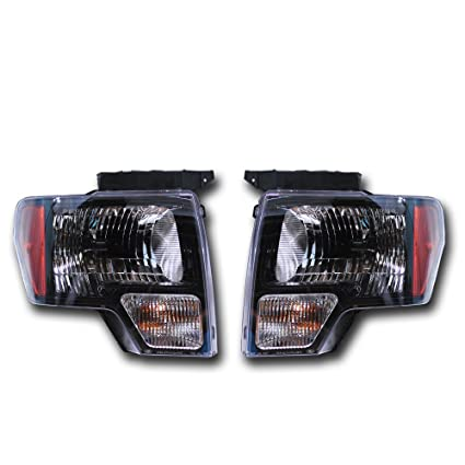 Amazon Com Ford Oem F 150 Black Headlight Pair Svt Raptor Harley