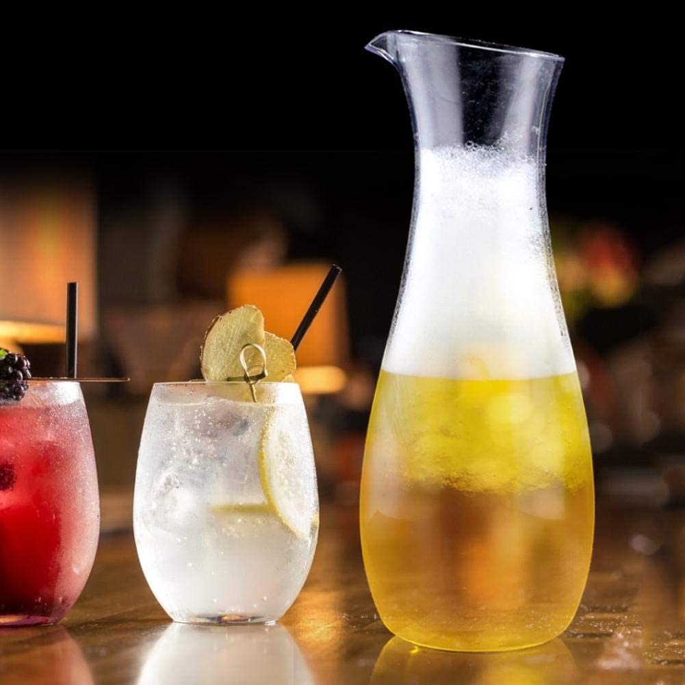 Carafe Acrylique Transparent Pichet /À Eau Bouteille De Jus De Vin Conteneur De Boisson Vin Transparent Bouilloire Pour Bar Maison 700cc
