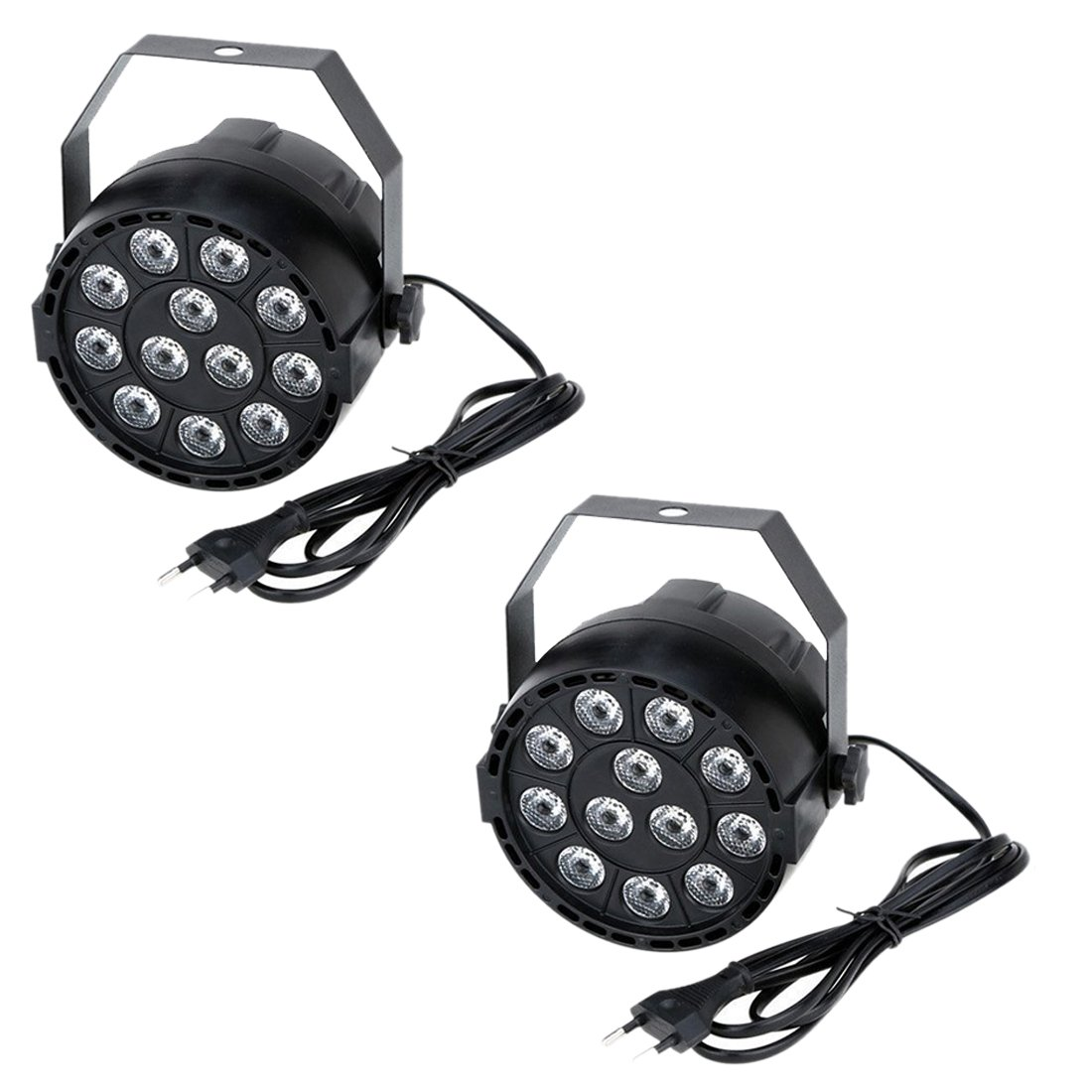 Disco Licht - SODIAL(R)2x15W DMX-512 RGBW LED DJ Lichteffekt Disco Beleuchtung 8 Kanal Wechselstrom 100-240V
