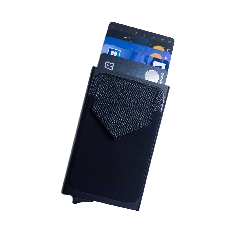 Tarjetero para Tarjetas de credito antirrobo RFID Aluminio, Resistente, Delgado, Elegante - Negro: Amazon.es: Equipaje