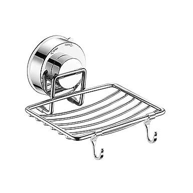 Jabonera con ventosa de acero inoxidable para montar en la ...