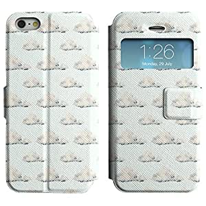 LEOCASE Verdadera Nube Funda Carcasa Cuero Tapa Case Para Apple iPhone 5 / 5S No.1000371