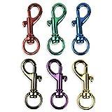 6 Bright Colors Aluminum Spring Snap Hook Set